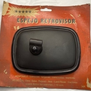 UNI116CAE-ESPEJO-RETROVISOR-EXT.-NEGRO-PLASTICO.-SIN-MANO-PARA-FURGONETA-Y-CAMION.